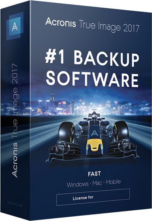 Acronis True Image 2017 ESD CZ pro 5 PC upgrade