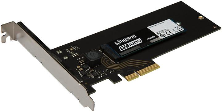 Kingston KC1000 NVMe PCIe SSD M.2+HHHL AIC - 480GB