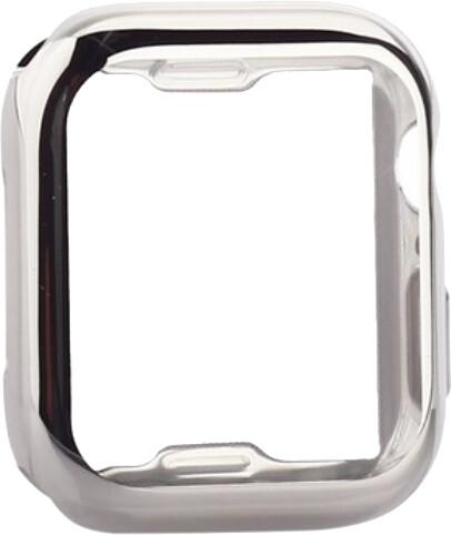 COTEetCI ochranný kryt pro Apple Watch, Fully Plated, 44mm, stříbrná