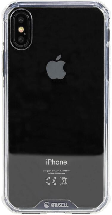 Krusell zadní kryt KIVIK pro Apple iPhone X, transparentní