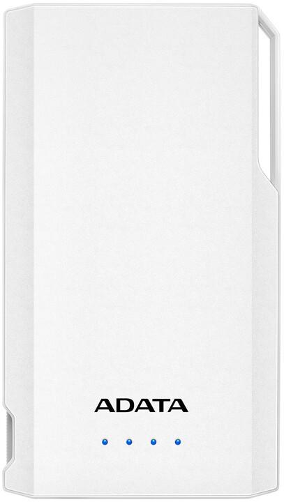 ADATA powerbanka S10000, externí baterie pro mobil/tablet 10000mAh, bílá
