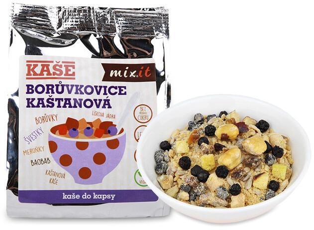 Mixit kaše Borůvkovice do kapsy, kaštanová - borůvka, 60g