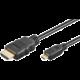 PremiumCord HDMI A - HDMI micro D, 1m