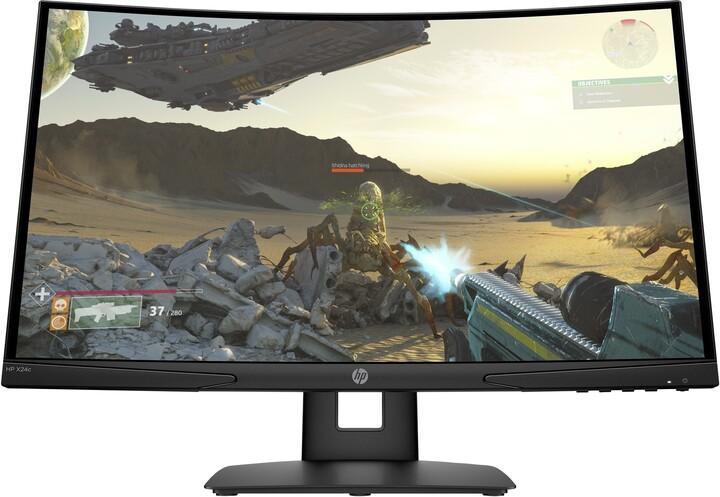 "HP X24c FHD - LED monitor 24"""