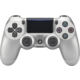 Sony PS4 DualShock 4 v2, stříbrný  + 300 Kč na Mall.cz