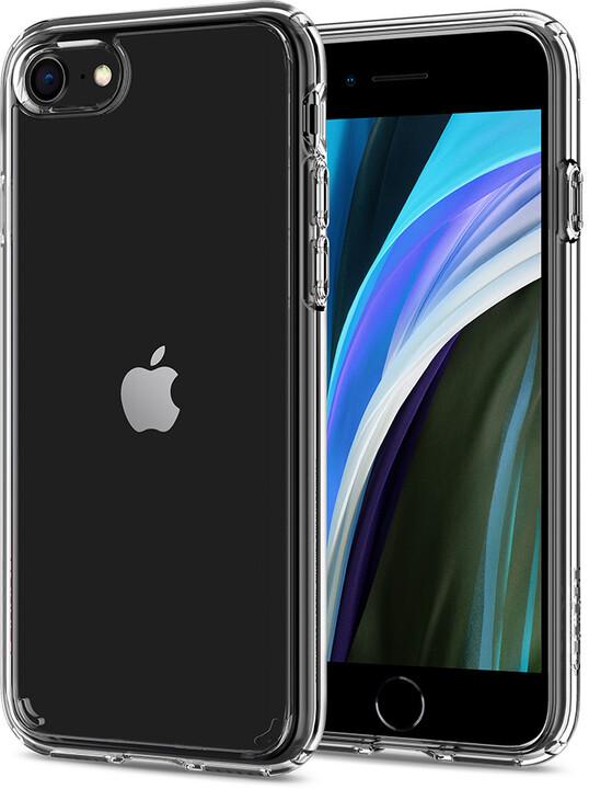 Spigen ochranný kryt Crystal Hybrid pro iPhone 7/8/SE 2020, transparentní