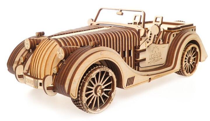 UGEARS stavebnice - Roadster, dřevěná, mechanická