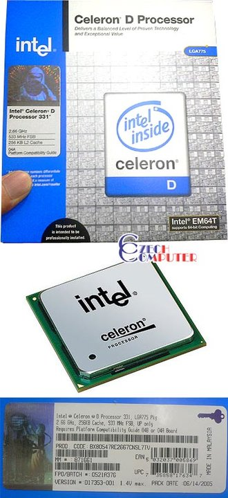 Intel Celeron D326 2,53GHz 533MHz BOX 775pin