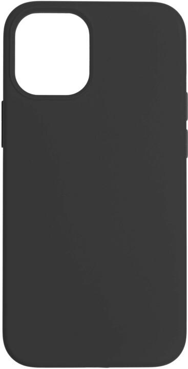 FIXED silikonový kryt Flow pro Apple iPhone 12 mini, černá