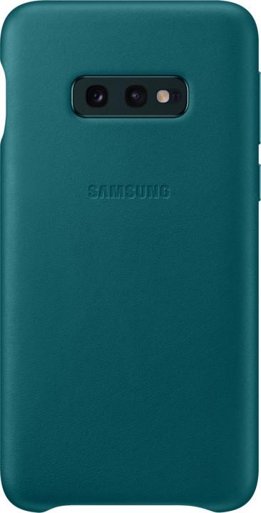 Samsung kožený zadní kryt pro Samsung G970 Galaxy S10e, zelená