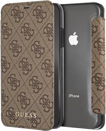GUESS Charms Book pouzdro 4G pro iPhone 7/8 Plus, hnědá