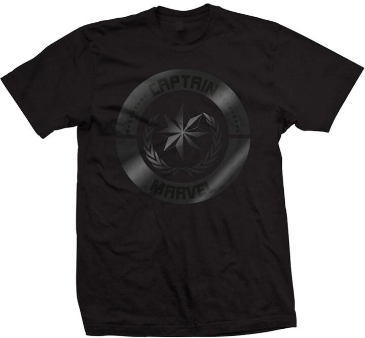 Tričko Marvel - Captain Marvel, Silver Circle, černé (L)