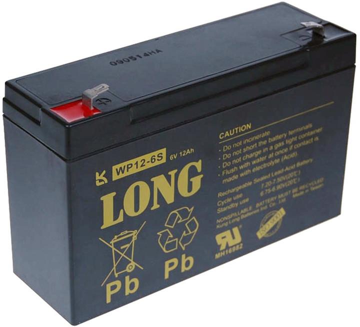 Avacom baterie Long 6V/12Ah, olověný akumulátor F1