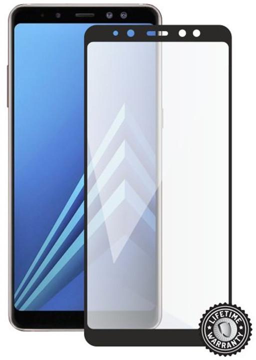 Screenshield ochrana displeje Tempered Glass pro Samsung Galaxy A8 (2018) (full cover), černá