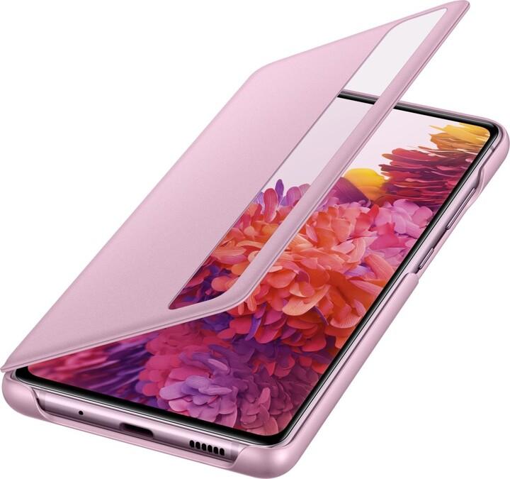 Samsung flipové pouzdro Clear View pro Galaxy S20 FE, fialová