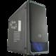 CoolerMaster MasterBox E500L, černá, modrý rámeček  + Voucher až na 3 měsíce HBO GO jako dárek (max 1 ks na objednávku)