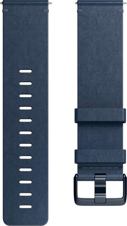 Fitbit Versa Leather Midnight Blue - náhradní pásek velikost L