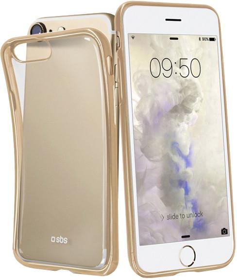 SBS Extra Slim Gold Collection pouzdro pro iPhone 8/7/6S/6, transparentní zlatá