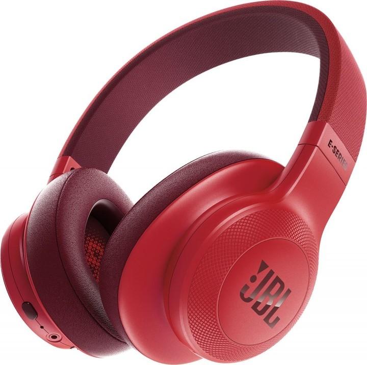 JBL E55BT, červená