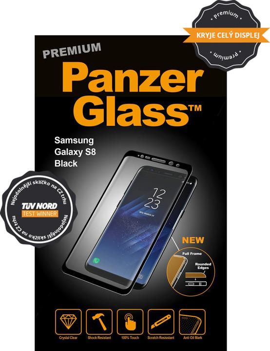 PanzerGlass PREMIUM ochranné sklo pro Samsung Galaxy S8 - Černá