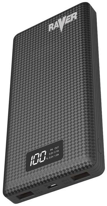 Raver powerbanka 20000mAh, černá