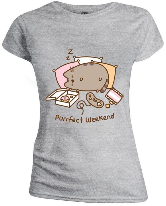 Tričko Pusheen - Purrfect Weekend, dámské (L)
