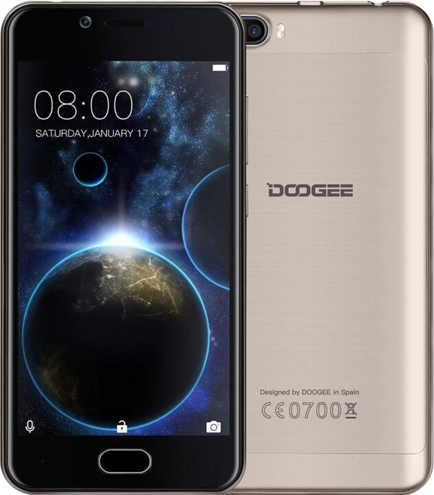 DOOGEE Shoot 2 - 16GB, zlatá