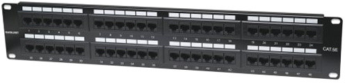 "Digitus Patch Panel, 19"", 48x RJ45, černý"