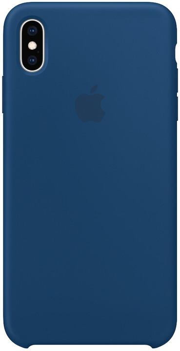 Apple silikonový kryt na iPhone XS Max, podvečerně modrá