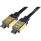 PremiumCord GOLD HDMI High Speed + Ethernet kabel, zlacené konektory, 2m