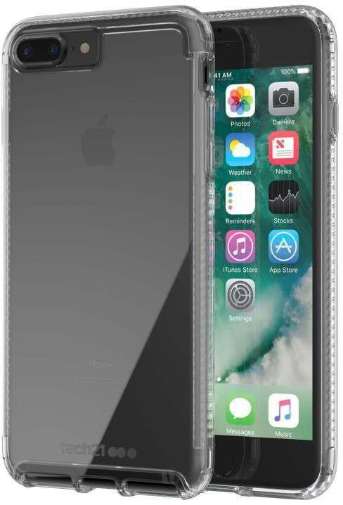 Tech21 Pure Clear Case for iPhone 7 Plus/8 Plus, čirá