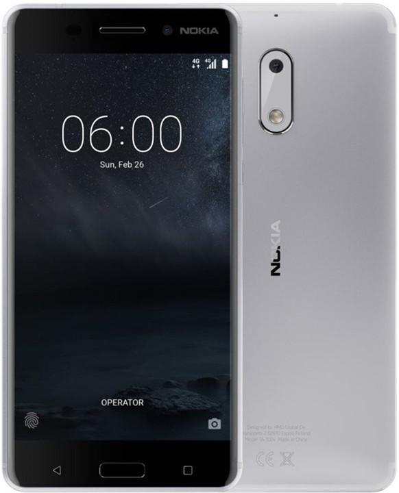 Nokia 6, Single Sim, stříbrná