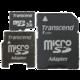 Transcend Micro SD 2GB + 2 adaptéry