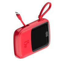 Baseus Q-Pow rychlonabíjecí Powerbanky s LCD displejem 10000 mAh, červená - PPQD-B09