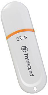 Transcend JetFlash 330 32GB, bílo/oranžový
