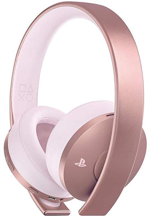 Sony PS4 - Gold Wireless Headset, růžová