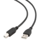 Gembird CABLEXPERT kabel USB A-B 3m 2.0 HQ zlacené kontakty, černá
