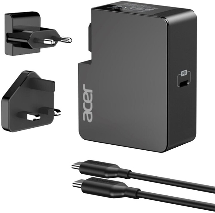 Acer síťový adaptér, USB-C, 45W, černá