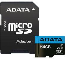 ADATA Micro SDXC Premier 64GB 85MB/s UHS-I A1 + SD adaptér - AUSDX64GUICL10A1-RA1