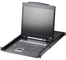 """ATEN CL1308N - 8-portový KVM switch (USB i PS/2, VGA), 19"""" LCD, US klávesnice - CL1308N-ATA-2XK06A1G"""