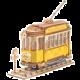 Stavebnice - Tramvaj (dřevěná)