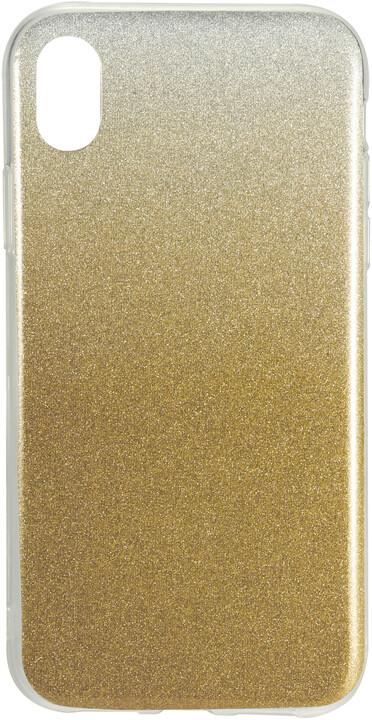 EPICO Pružný plastový kryt pro iPhone Xr GRADIENT, zlatá