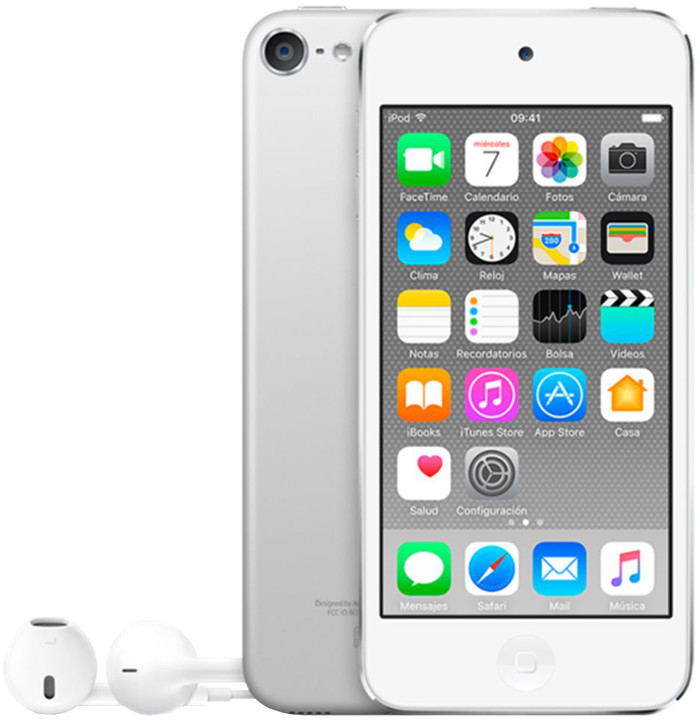Apple iPod touch - 128GB, bílá/stříbrná, 6th gen.