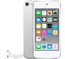 Apple iPod touch - 128GB, bílá/stříbrná, 6th gen. - MKWR2HC/A