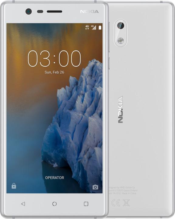 Nokia 3, Single Sim, bílá