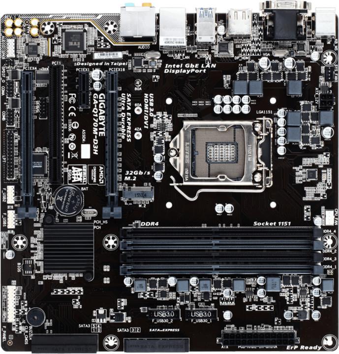 GIGABYTE Q170M-D3H - Intel Q170