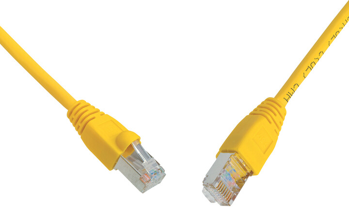 Solarix Patch kabel CAT5E SFTP PVC 7m žlutý snag-proof