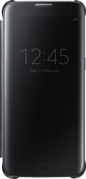 Samsung EF-ZG935CB Flip ClearView Galaxy S7e,Black