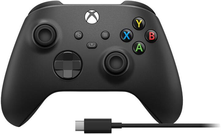 Xbox Series Bezdrátový ovladač, černý + USB-C kabel