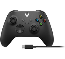 Xbox Series Bezdrátový ovladač, černý + USB-C kabel (PC, Xbox Series, Xbox ONE)